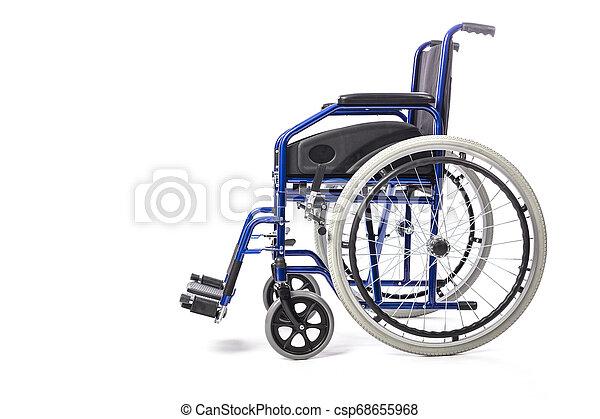 車椅子, 白い背景 - csp68655968