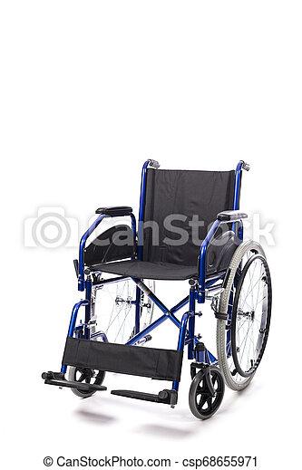 車椅子, 白い背景 - csp68655971