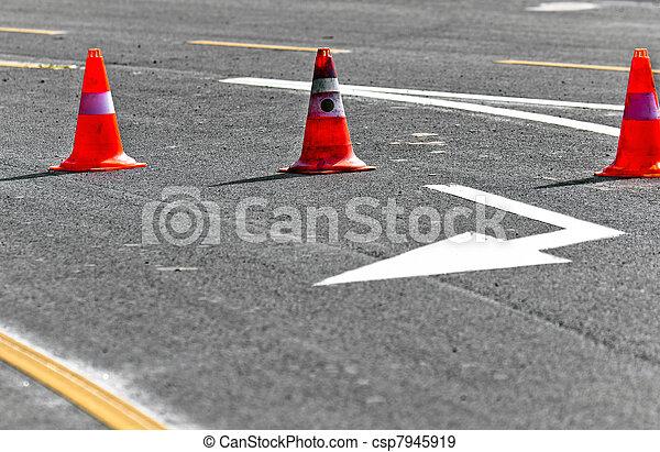 車線, 道の ブロック - csp7945919