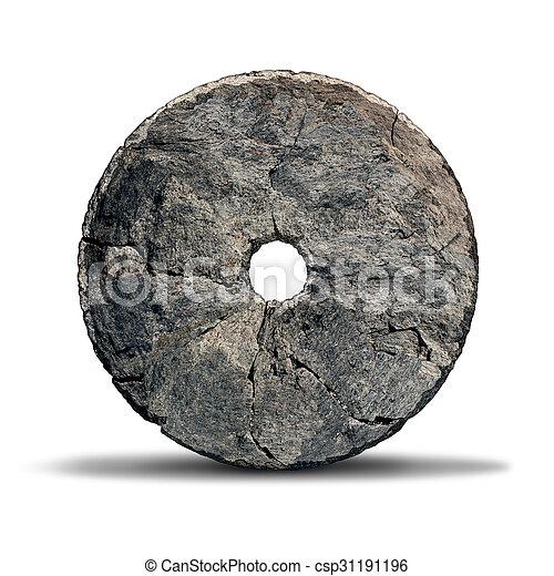 車輪, 石 - csp31191196