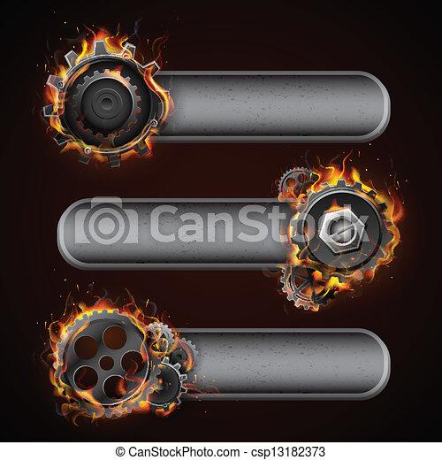 車輪, fiery, コグ - csp13182373