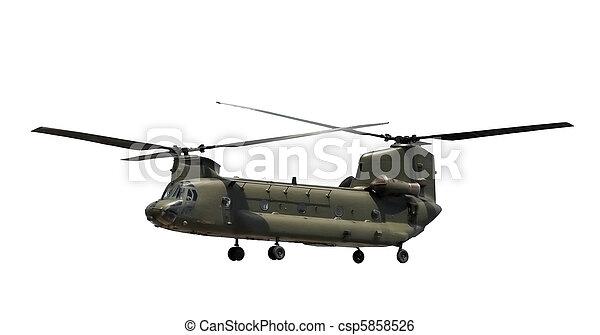 軍のヘリコプター - csp5858526