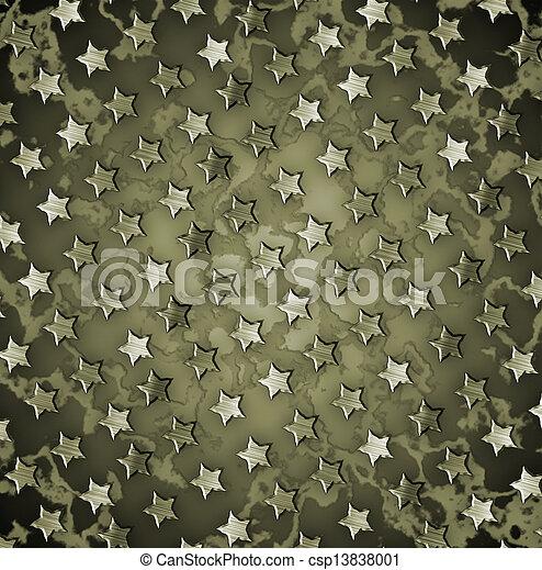 軍, グランジ, 背景 - csp13838001