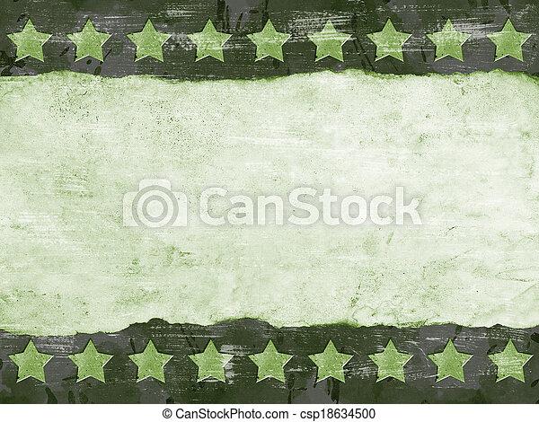 軍, グランジ, 背景 - csp18634500