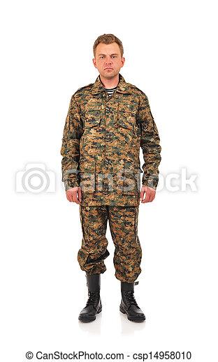 軍, 人 - csp14958010