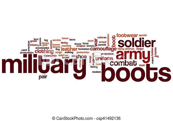 軍, 単語, ブーツ, 雲 - csp41492136