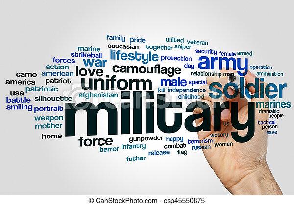 軍, 単語, 雲 - csp45550875