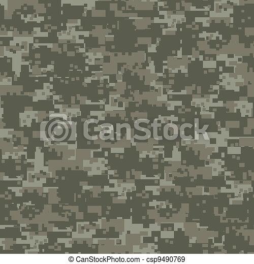 軍, 森, pattern., seamless, カモフラージュ - csp9490769
