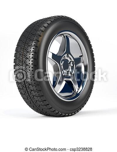 輪子, 汽車, 輪胎 - csp3238828