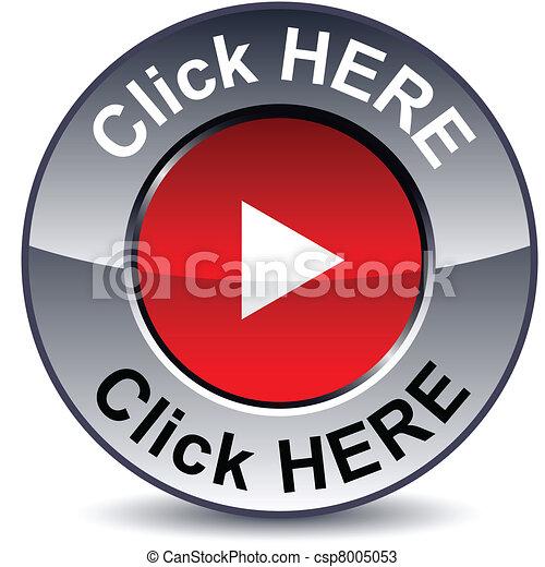 輪, button., 在這裡, 按一下 - csp8005053