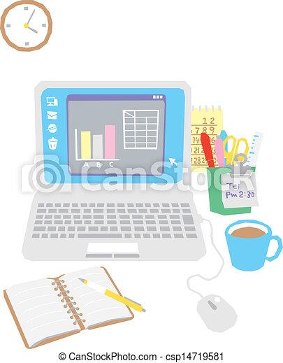 辦公室, 電腦, 書桌 - csp14719581