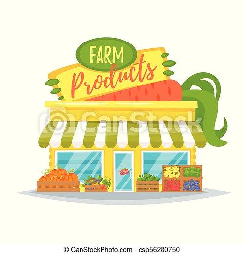 農場の 店, プロダクト, ファサド - csp56280750