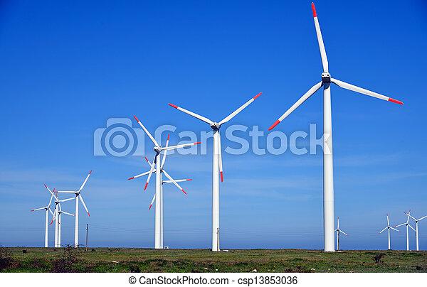 農場, タービン, エネルギー, -, 源, 選択肢, 風 - csp13853036