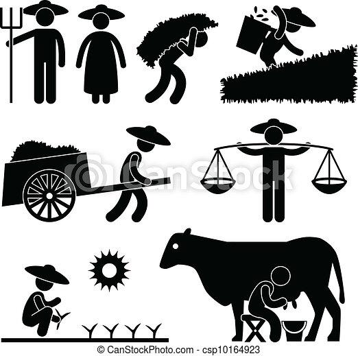 農場, 農業, 労働者, 農夫 - csp10164923