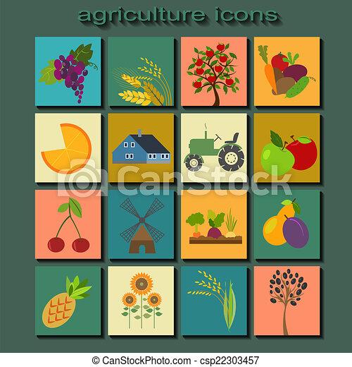 農業, セット, 農業, アイコン - csp22303457