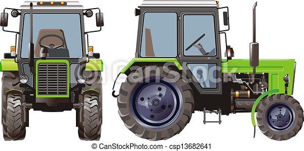 農業, ベクトル, トラクター - csp13682641