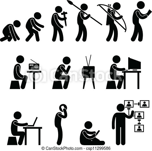 进化, 人类, pictogram - csp11299586