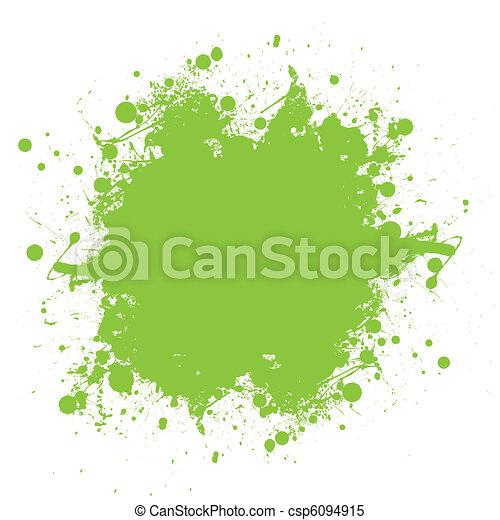 连续发溅泼声, 绿色, 墨水 - csp6094915