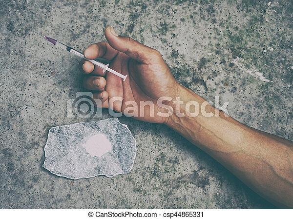 迷戀者, 藥物, 人 - csp44865331