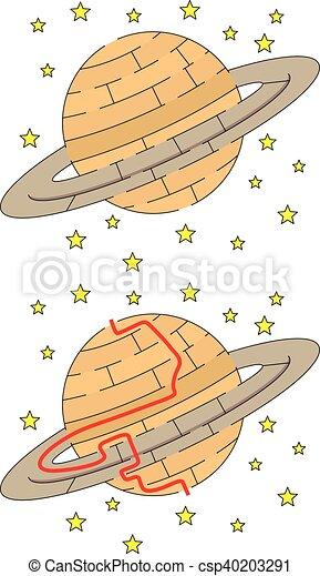 迷路, 土星, 容易である - csp40203291