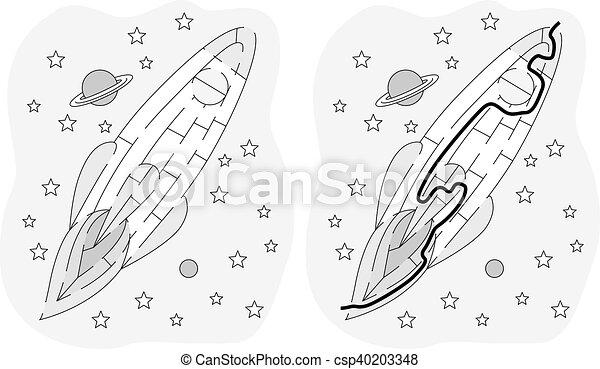 迷路, 容易である, ロケット - csp40203348
