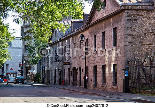 通り, 古い, 静寂, モントリオール - csp24077812