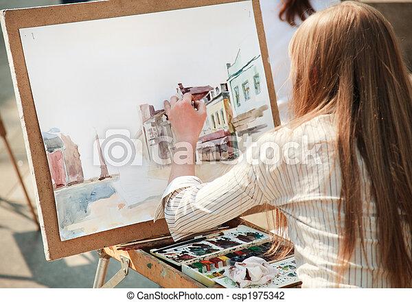 通り, 芸術家 - csp1975342