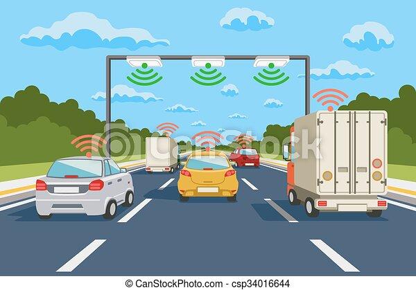 通訊, 矢量, 系統, 高速公路, infographics - csp34016644
