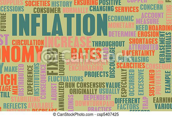 通貨膨脹 - csp5407425