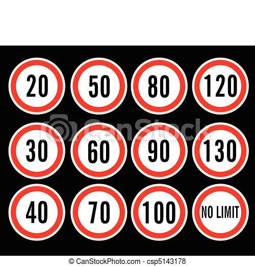 速度, 矢量, 限制, 簽署 - csp5143178
