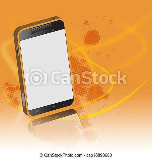連接, smartphone, 技術, concept. - csp18898660