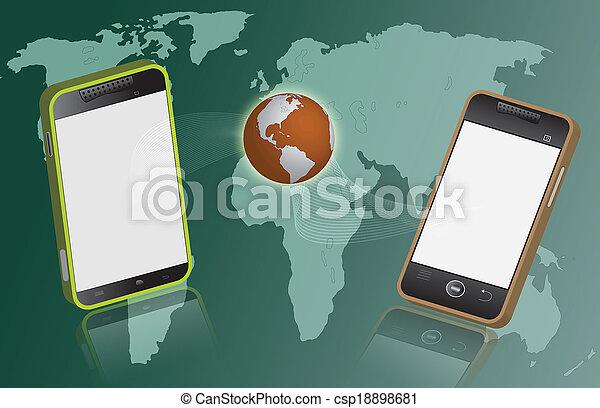 連接, smartphone, 技術, concept. - csp18898681