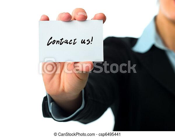 連絡, 名刺, 私達 - csp6495441