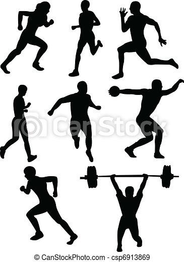 運動競技, シルエット - csp6913869