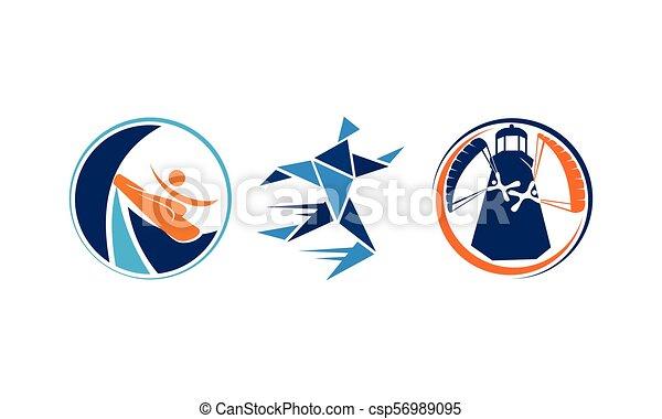 運動選手, スポーツ, セット, テンプレート - csp56989095