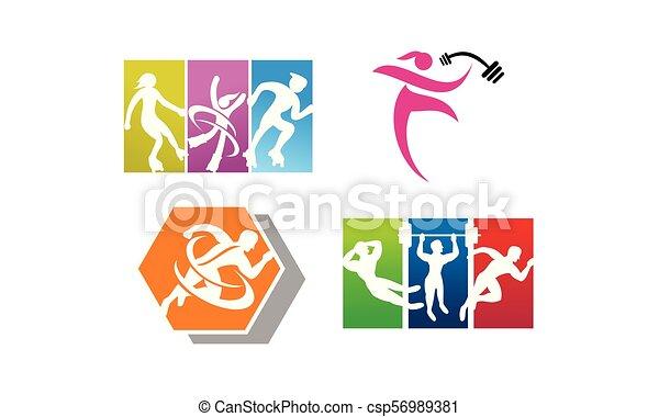 運動選手, スポーツ, セット, テンプレート - csp56989381
