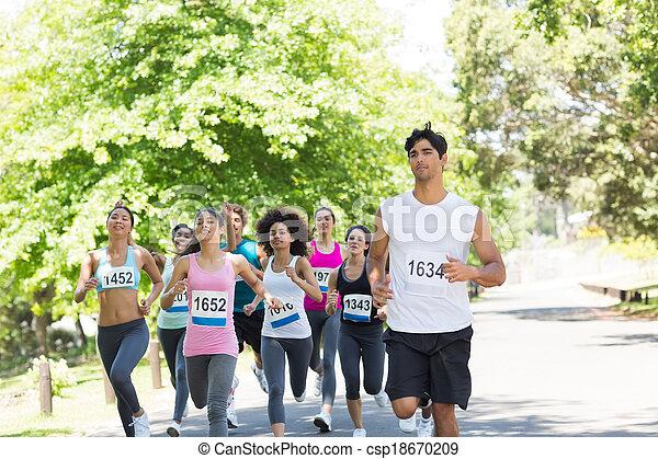 運動選手, 動くこと, マラソン - csp18670209