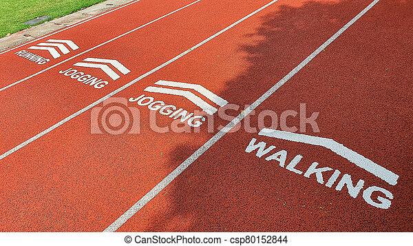 運動, ジョッギング, 歩くこと。, 動くこと, 走っている小道 - csp80152844