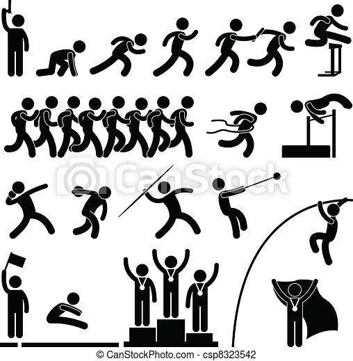 運動, トラック, ゲーム, スポーツ, フィールド - csp8323542