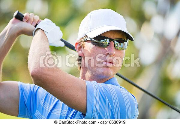 運動, 人, ゴルフ, 遊び, 若い - csp16630919