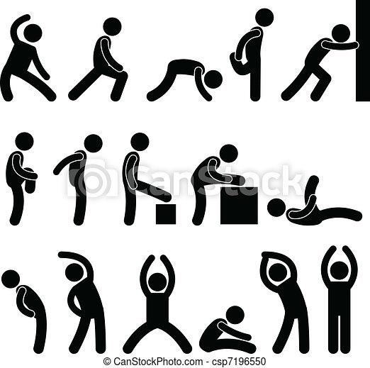 運動, 伸張, 練習, 人々 - csp7196550