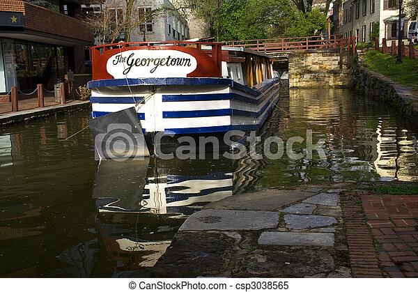 運河, georgetown, c&o, 公園, 国民, washington d.c., ボート - csp3038565