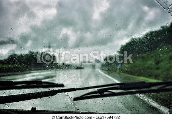 運転, 雨 - csp17594732