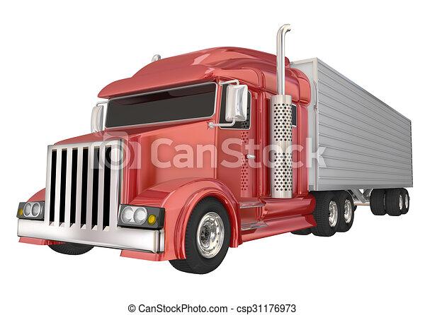運送屋, 半, 大きい, 荷車引き, ...