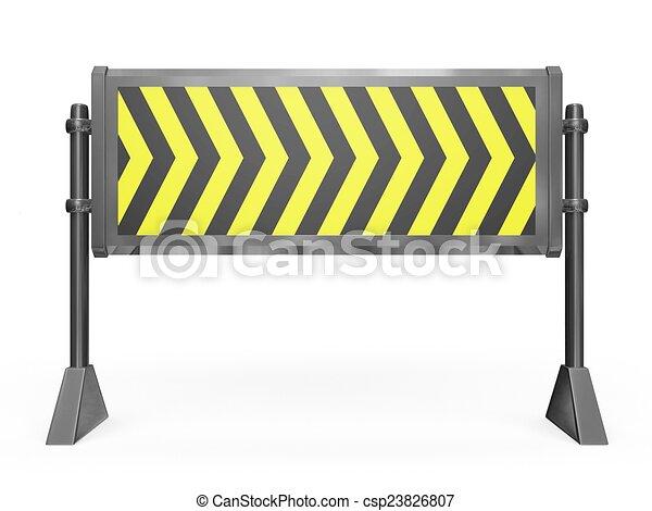 道の ブロック, 障壁 - csp23826807