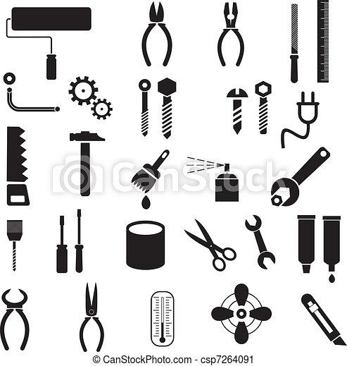 道具, ベクトル, -, アイコン - csp7264091