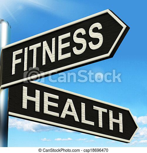 道標, 仕事, 健康, 健康, フィットネス, ショー, から - csp18696470