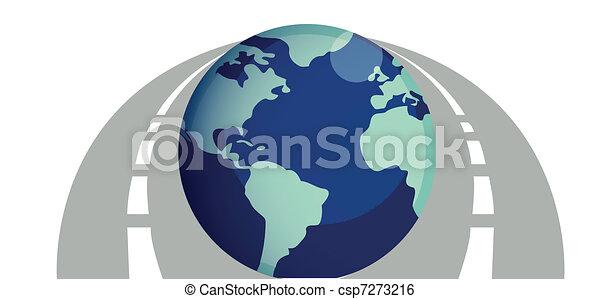 道路, 世界, 大約, 插圖 - csp7273216