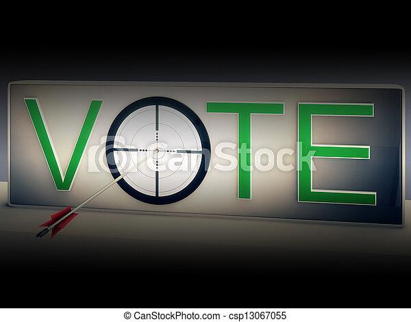 選びなさい, ターゲット, 選択, 選択, 投票, ショー - csp13067055