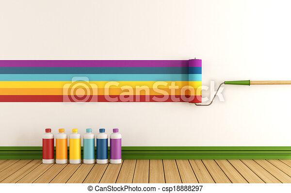 選り抜き, カラー材料見本, 壁, ペンキ - csp18888297